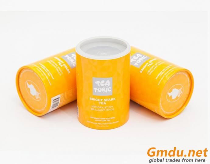 Small black Tea carton tube box Loose tea packaging