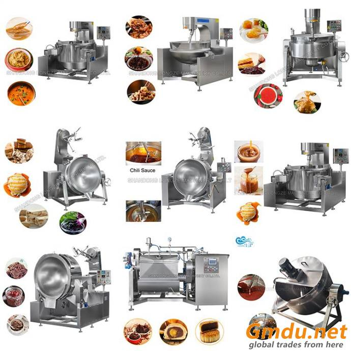 Intelligent Automatic Drum Cooking Machine Food Cooking Mixer Machine