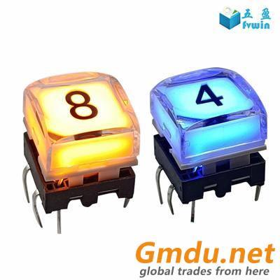 Control Broadcast Panel illuminated LED Color Button