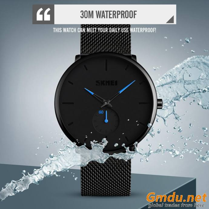 SKMEI watch # 9185 water resistant minimalist style quartz men watch