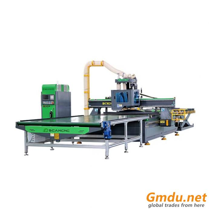 High precision wood cnc machine with automatic loading and unloading system cnc router for furniture engraving machine