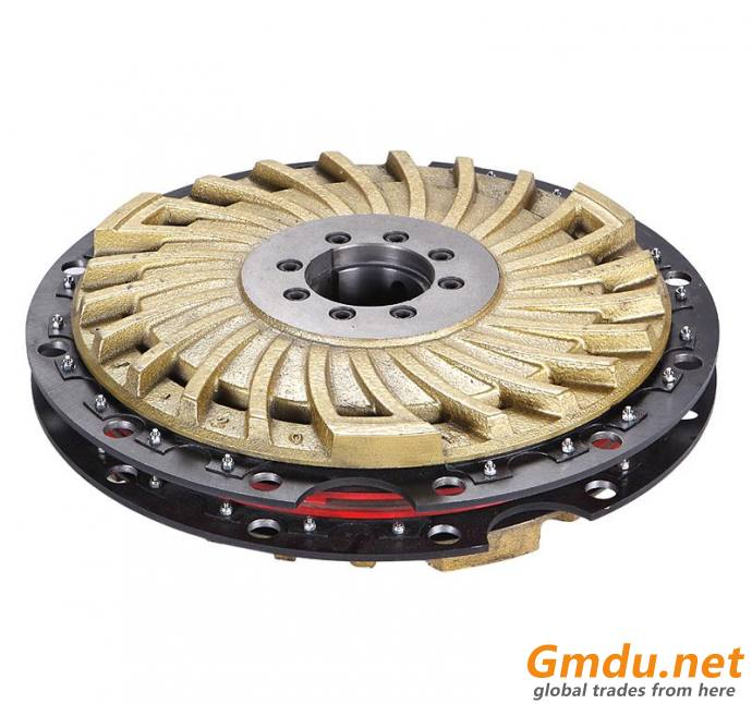 KB model pneumatic friction clutch and brake together