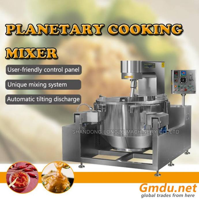 Cooker Machine With Mixer For Industrial Food Production