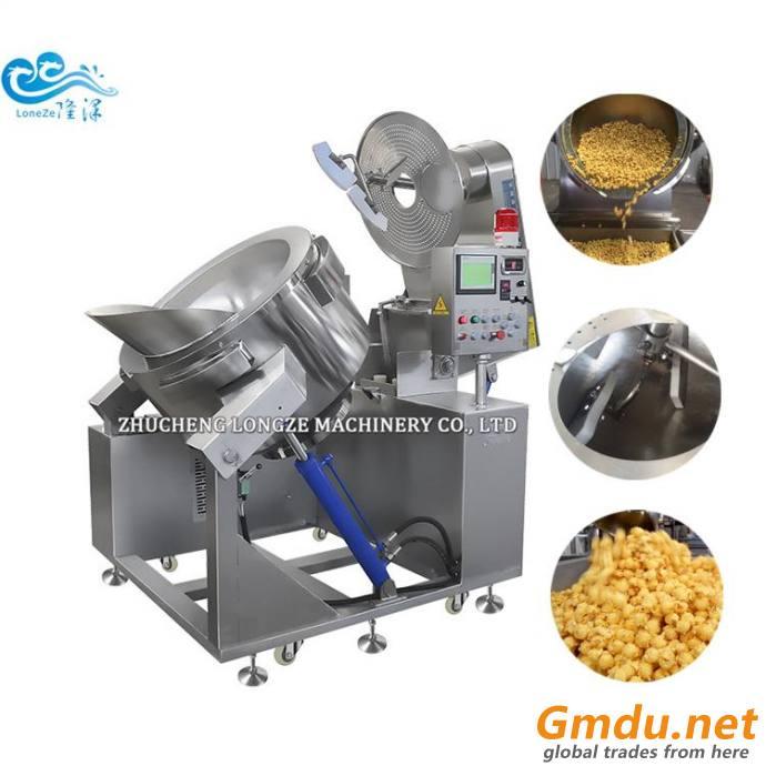 Automatic Caramel Popcorn Machine Creamy Ball Shape Popcorn Making Machine