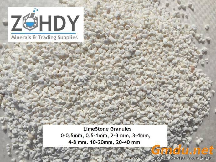 LimeStone Granules ( Feed Grade ) 2-3mm, 0.5-1mm, 3-4 mm, 0-0.5mm Origin Egypt ( ZMTS )