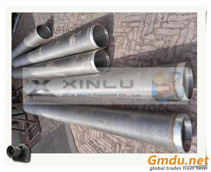stainless steel slotted screen tube , wedge wire johnson filter element