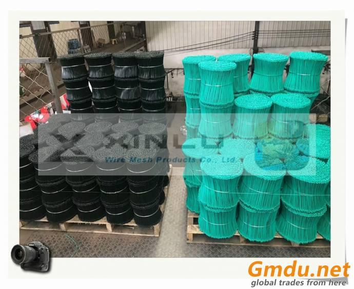 PVC Coated bar tie wires, PVC coated binding wire ties, double loop wire ties