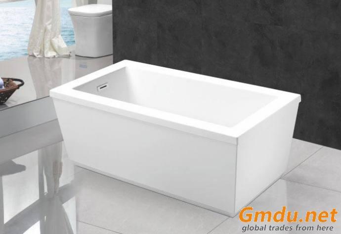 59 66 inch Rectangular Acrylic Freestanding Bathtub