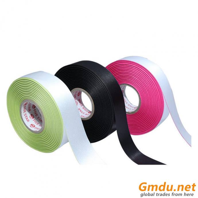 WOVEN EDGE SATIN WITH COLOR RIBBON