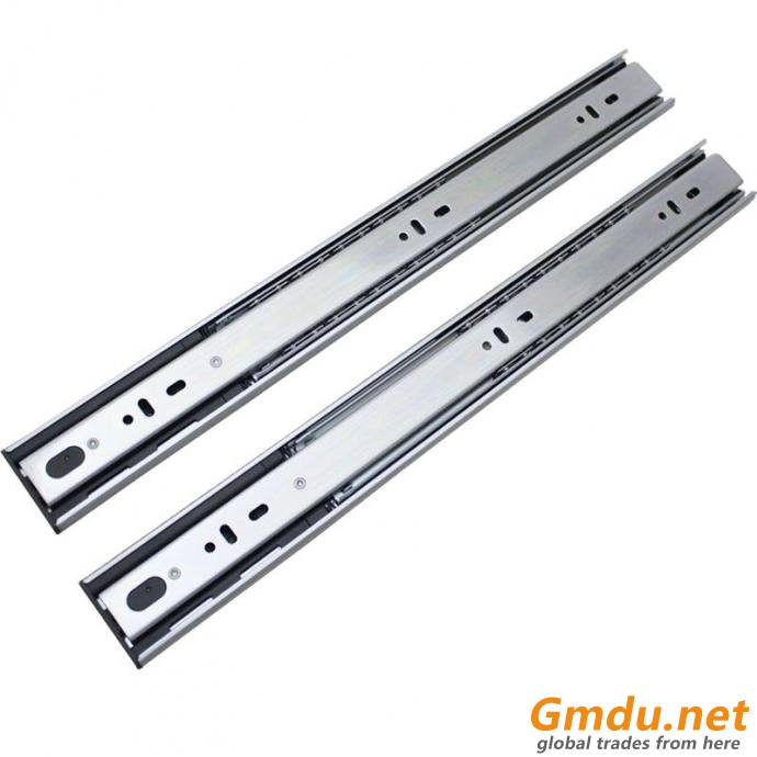 full extension ball bearing drawer slide soft close telescopic channel (L45315H)