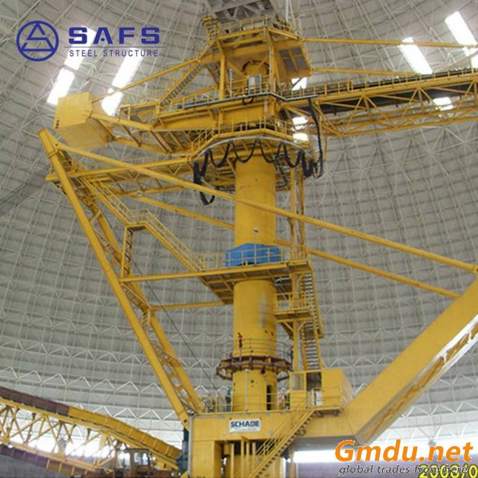 SAFS high strength & light weight steel structure according to the load dome dry coal bunker design