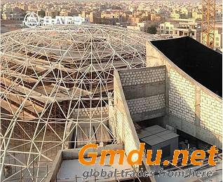 Light weight and strong stability space frame prefab modular scost-effective coal storage system design