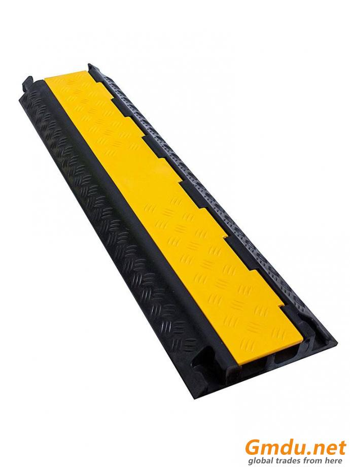 2channel Rubber Cable Floor Cover Protector Cable Protecting Bumper