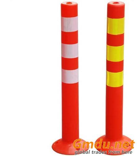 750mm Unbreakable PE Road Safety Traffic Post Spring Post Delineator