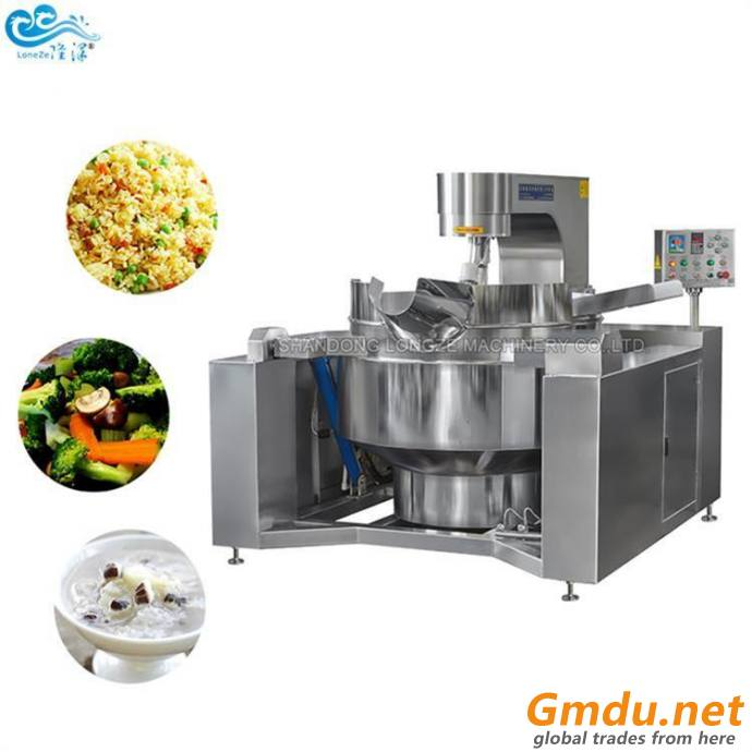 Gas Heating For Hot Sauce Industrial Automatic Cooking Kettle Mixer Machine Cooking