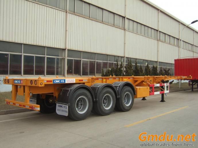 cimc tri-axle 40ft container chassis semi trailer