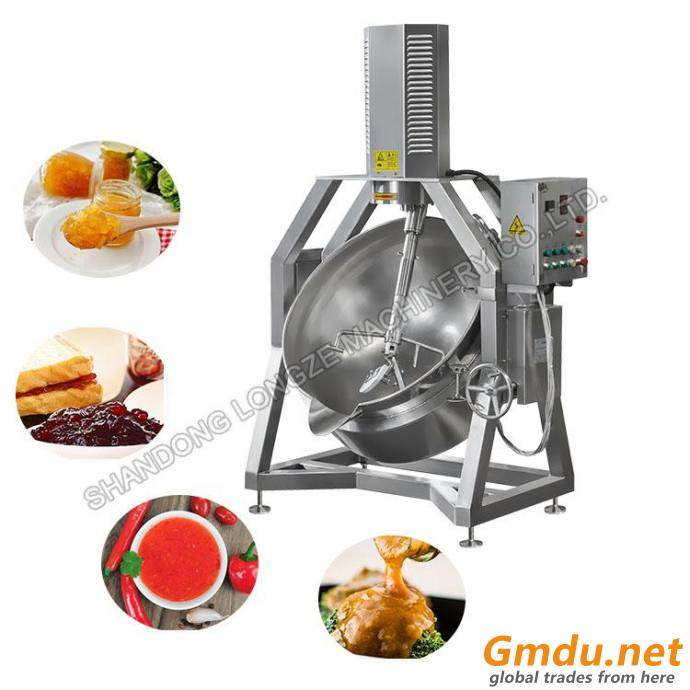 Commercial Use Cooking Jacketed Kettle Pot For Sauce Steam Double Jacketed Kettle With Stirrer
