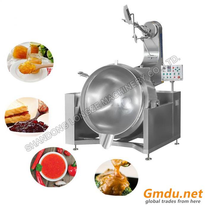 Industrial Gas Heating Stainless Steel Mixer Cooking Machine With Agitator For Sale