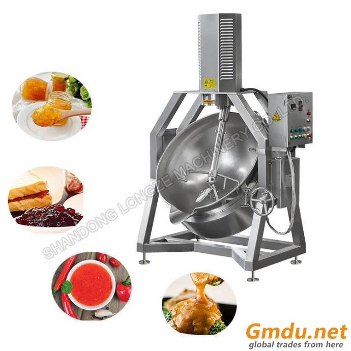 Automatic Cooking Mixer Gas Steam Electric Cooking Industrial Jacketed Kettle