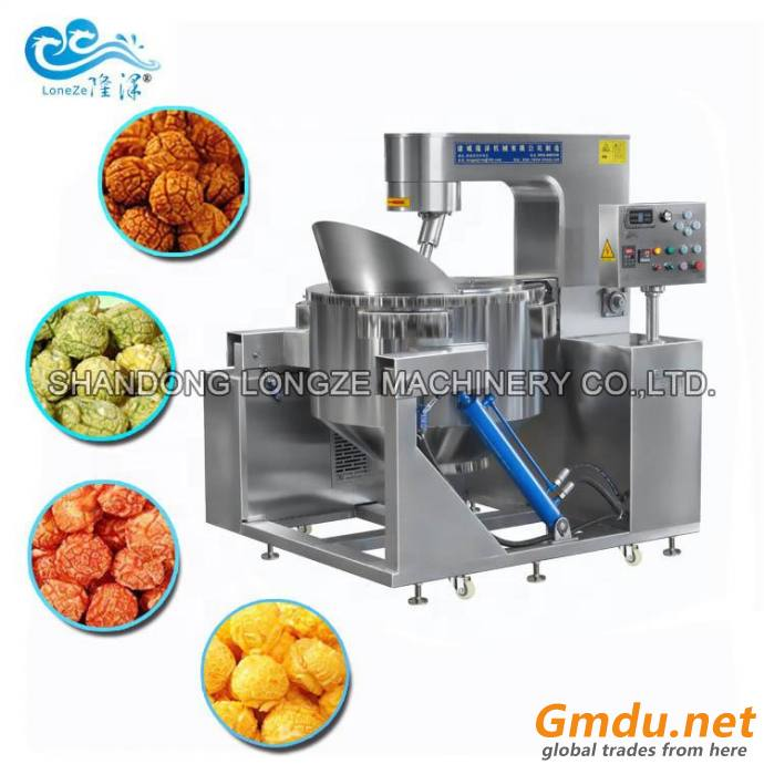Commercial Mushroom Popcorn Machine Hot Oil Popping Direct Coating For Gourmet Flavors