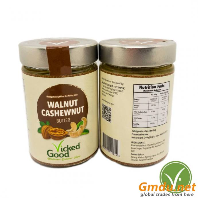 VickedGood Walnut Cashewnut Butter (240g)