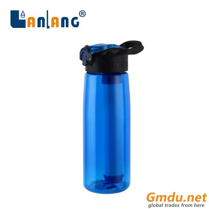Eco friendly outdoor water bottle filter purifier system
