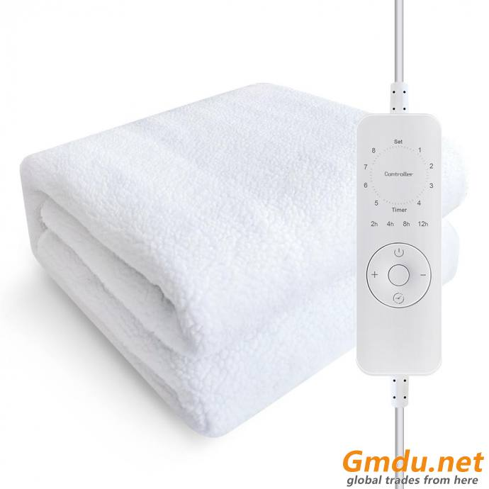 Single/ Double Synthetic Wool Electric Blanket With Timer