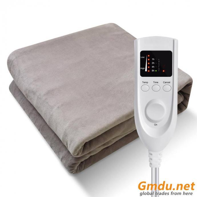 Single/ Double Coral Fleece Polar Fleece Electric Blanket With Timer
