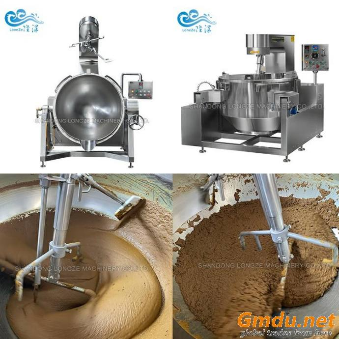Tilting Jacketed Kettle Cooker Mixer Machine With Agitator