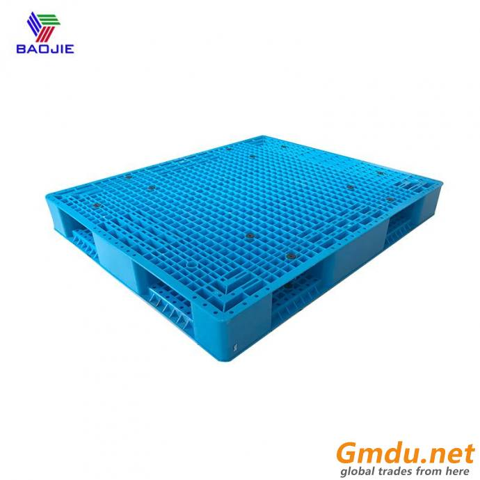 Heavy duty plastic pallets for warehouse storage