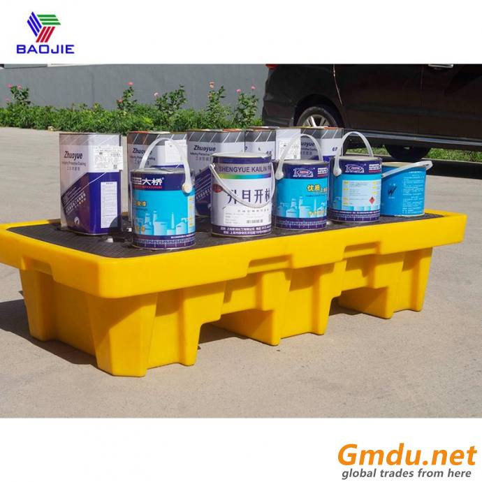 Plastic spill oil plastic pallets for industiral oil leakage storage
