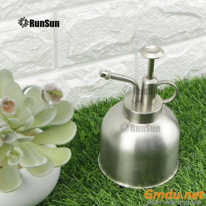 Retro Design Mist Nozzle Watering Can for Silver