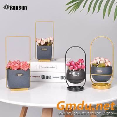 New desktop square flower pot cement succulent plants