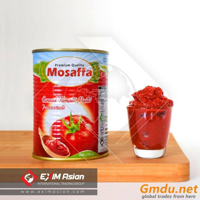 Canned Tomato Paste with Easy Open Lid