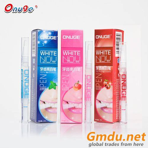 Transparent Plastic Fruity Teeth Whitening Pen With Organic Substance