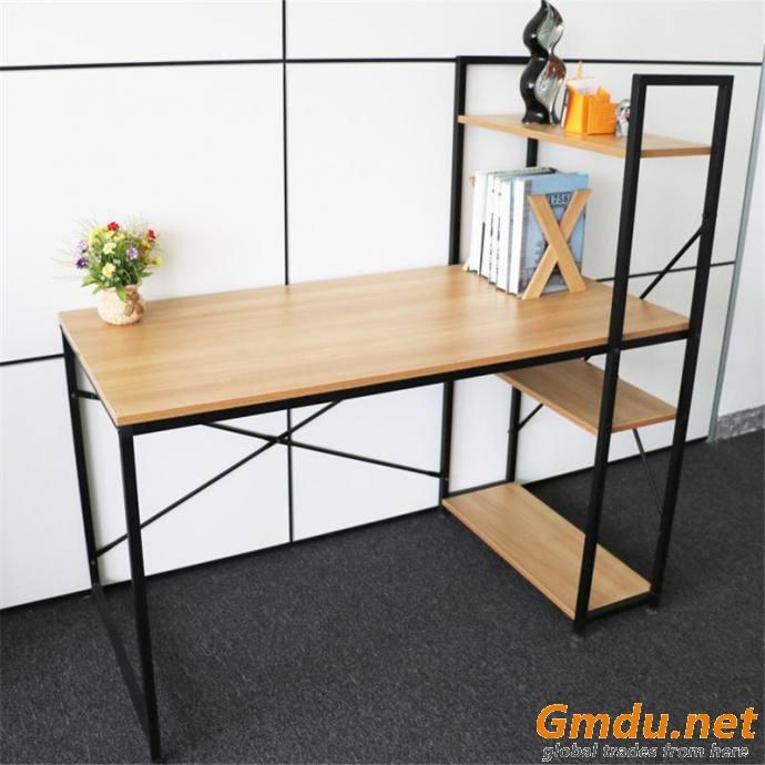 Simple desk and bookshelf combination