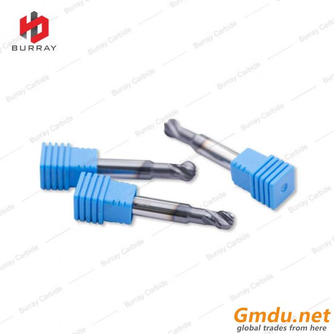 4 Flute Spherical Coating Milling Cutter for Processing Steel, Cast Iron