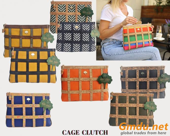 NY Cork Cage Clutch
