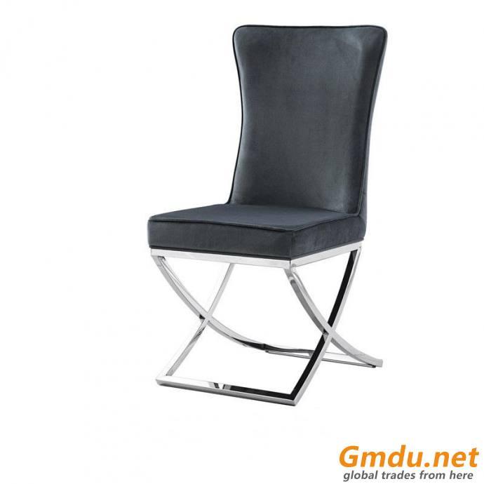 Black Velvet Dining Chair gold leg