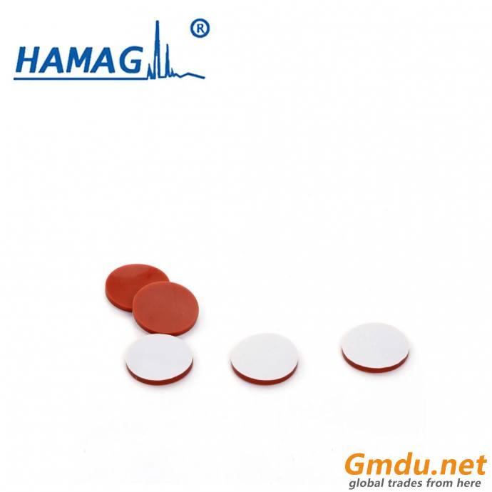 White PTFE/red Silicone septa