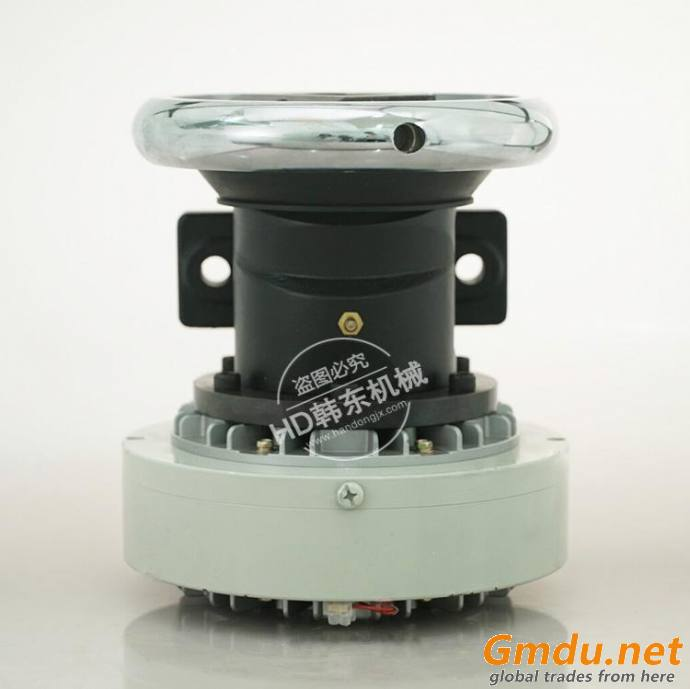 Magnetic powder brake matched with pillow mounted safety chuck for tension control