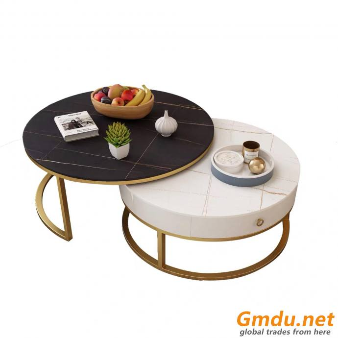 Living Room Marble Round Coffee Table