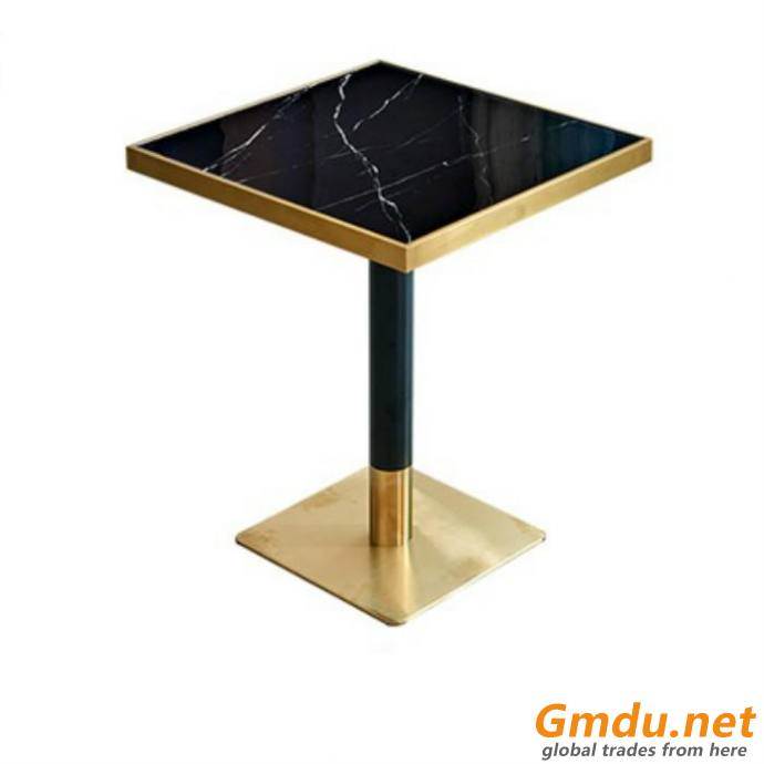 Unique Diamond shaped table Stainless Steel Base