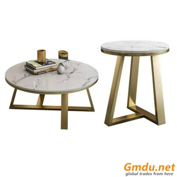 Round marble top table Stainless Steel leg