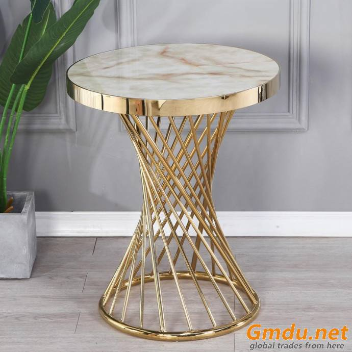 Oval marble table top coffee table