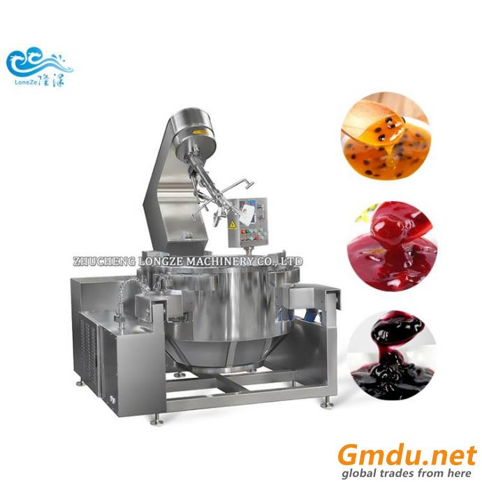 Milk Jam Fully Automatic Cooking Mixing Machines With Stainless Steel