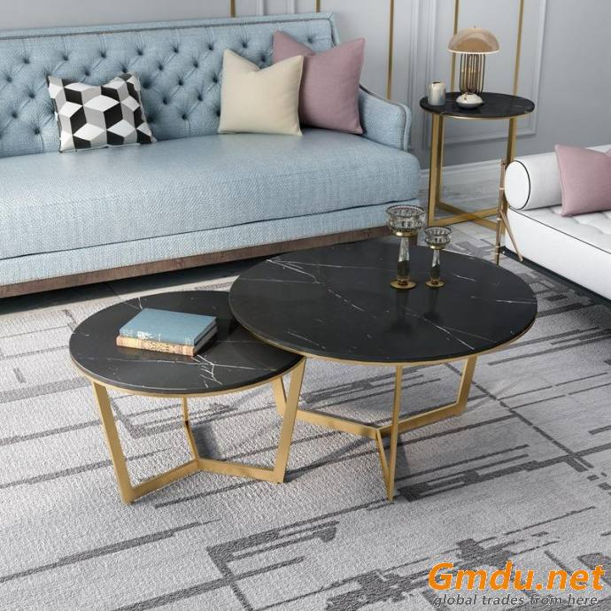 Nordic living room sofa side table