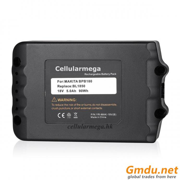 18v 5.0AH LXT Lithium-Ion Battery with LED Indicator for Makita BL1850 BL1840 BL1830 BL1820 BL1815 LXT-400 194204-5