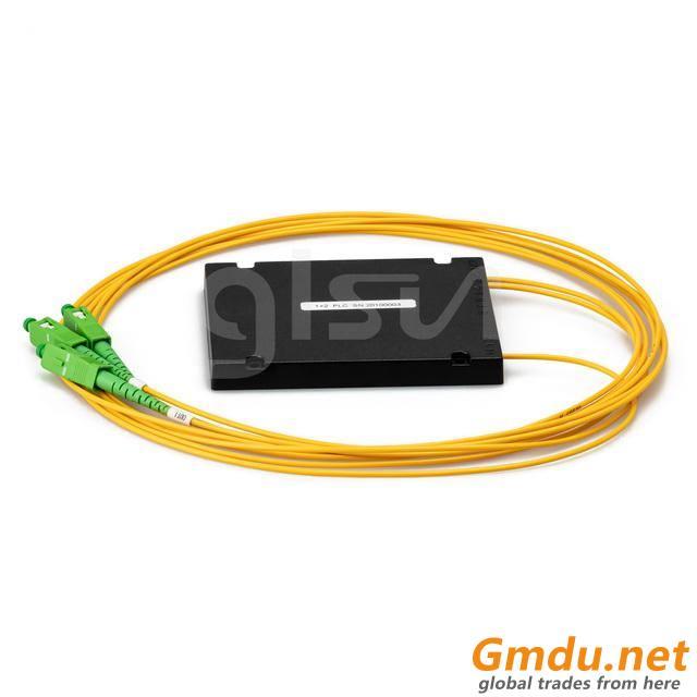 GLSUN-PLC 1x2 PLC Fiber Optic Splitter, ABS Box Package, 2.0mm, SC/APC Connector