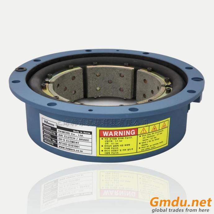 Korea HAwers imported air driven rubber tube clutch brake